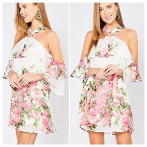 Loveliness Floral Halter Mini Dress